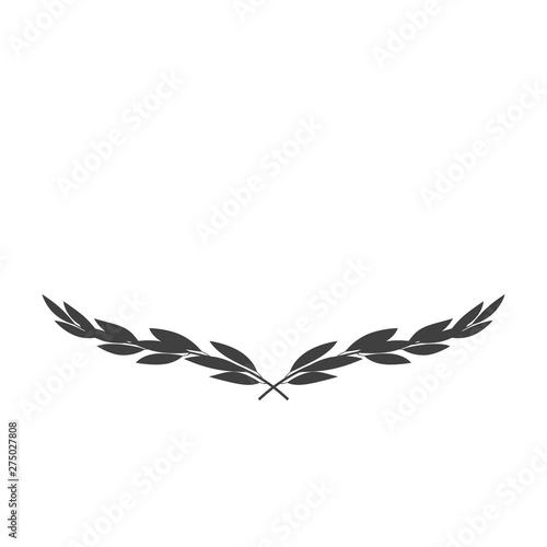 Fototapeta Vector wide laurel wreath icon isolated on white background obraz