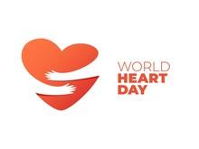 World Heart Day, Hands Hugging Heart Symbol