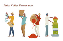Male Coffee Farmer Character S...