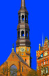 canvas print picture - germany,hambourg: saint michelis church,