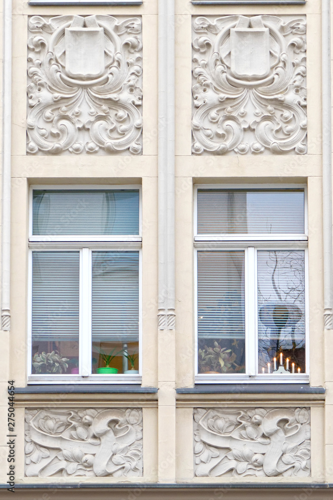 Fototapety, obrazy: Germany Thuringen, two beautiful windows of vintage building