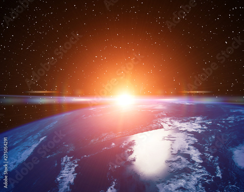 Keuken foto achterwand Nasa Planet earth and fascinating sunrise. The elements of this image furnished by NASA.