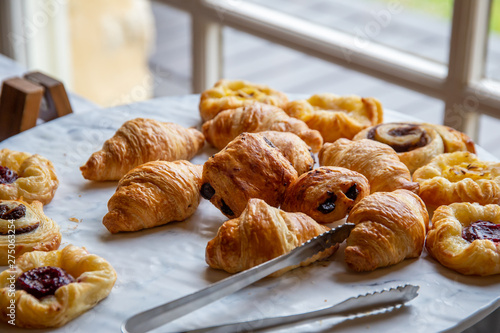 Variety of breakfast pastries Canvas Print