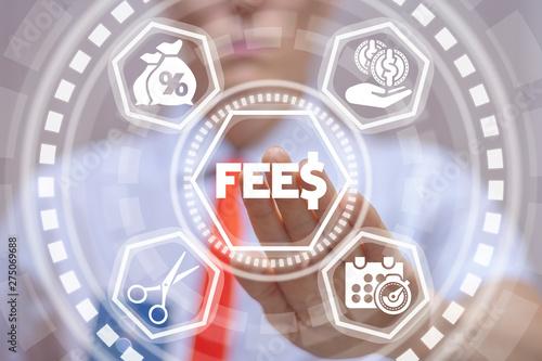 Cuadros en Lienzo Fee and Fees Financial Technology