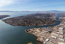 Aerial Of Alameda Insalnd And ...
