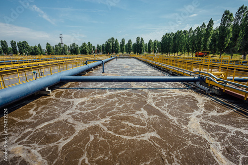 Pinturas sobre lienzo  Modern wastewater treatment plant