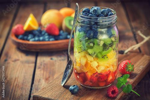 Poster Amsterdam Fresh Fruit Salad in a Jar