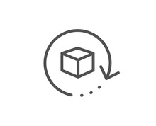 Return Package Line Icon. Delivery Parcel Sign. Cargo Goods Box Symbol. Quality Design Element. Linear Style Return Package Icon. Editable Stroke. Vector