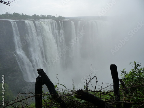 La pose en embrasure Fantastique Paysage Afrika, Berg, Landschaft, Wasserfall, Canyon, Phantasy