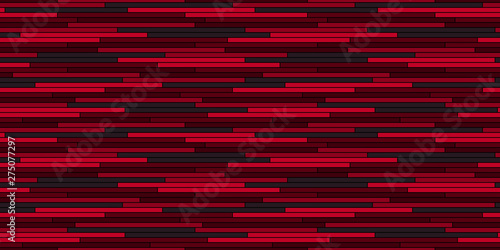 Fotografiet  Abstract irregular stripes seamless pattern  Red vector background
