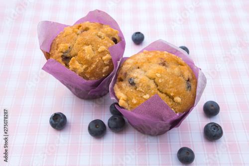 muffins aux myrtilles Fototapet