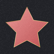 Walk Of Fame Empty Pink Star. ...