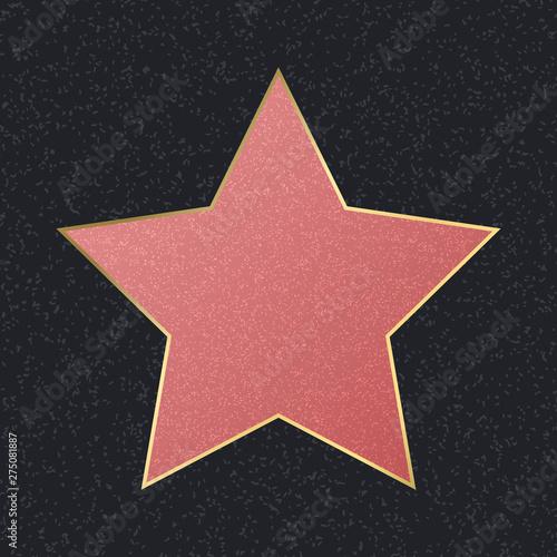 Fotografija Walk of Fame Empty Pink Star. Vector