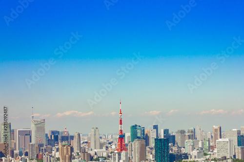 東京都の都会の街並み