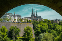 Paronamic View From Adolphe Bridge In Luxembourg