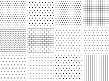 Set Of 12 Minimalist Seamless Patterns