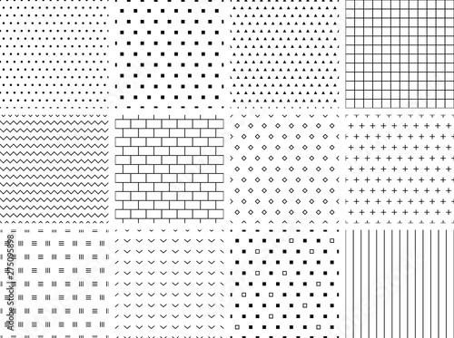 obraz PCV Set of 12 minimalist seamless patterns