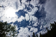 Cloudy Blue Sky Through The Br...