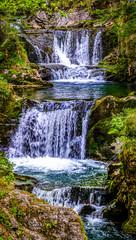 Fototapeta Wodospad waterfall - rottach-egern - bavaria