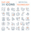 Set Vector Line Icons of Medical Technology