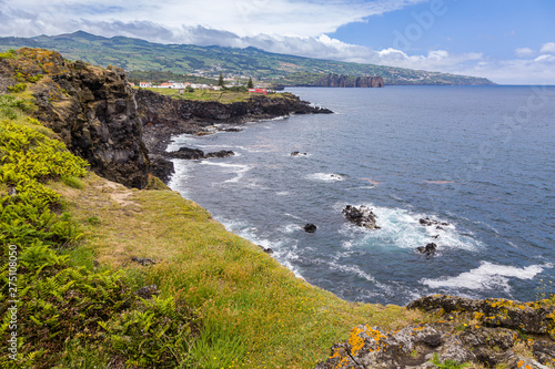 Photo Stands Melon Coast at Capelas on Sao Miguel Island, Azores