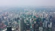 kuala lumpur city downtown famous towers sunny day aerial panorama 4k malaysia