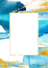 Watercolor Blue Vertical Abstr...