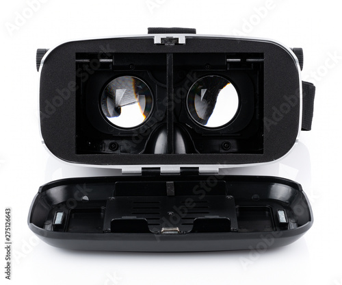 Photo  VR Box / Virtual Reality glasses isolated on white background