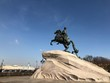 Leinwanddruck Bild - The Bronze or Copper Horseman Monument to Peter the Great Commissioned by Catherine the Great in 1782, in Saint Petersburg, Russia