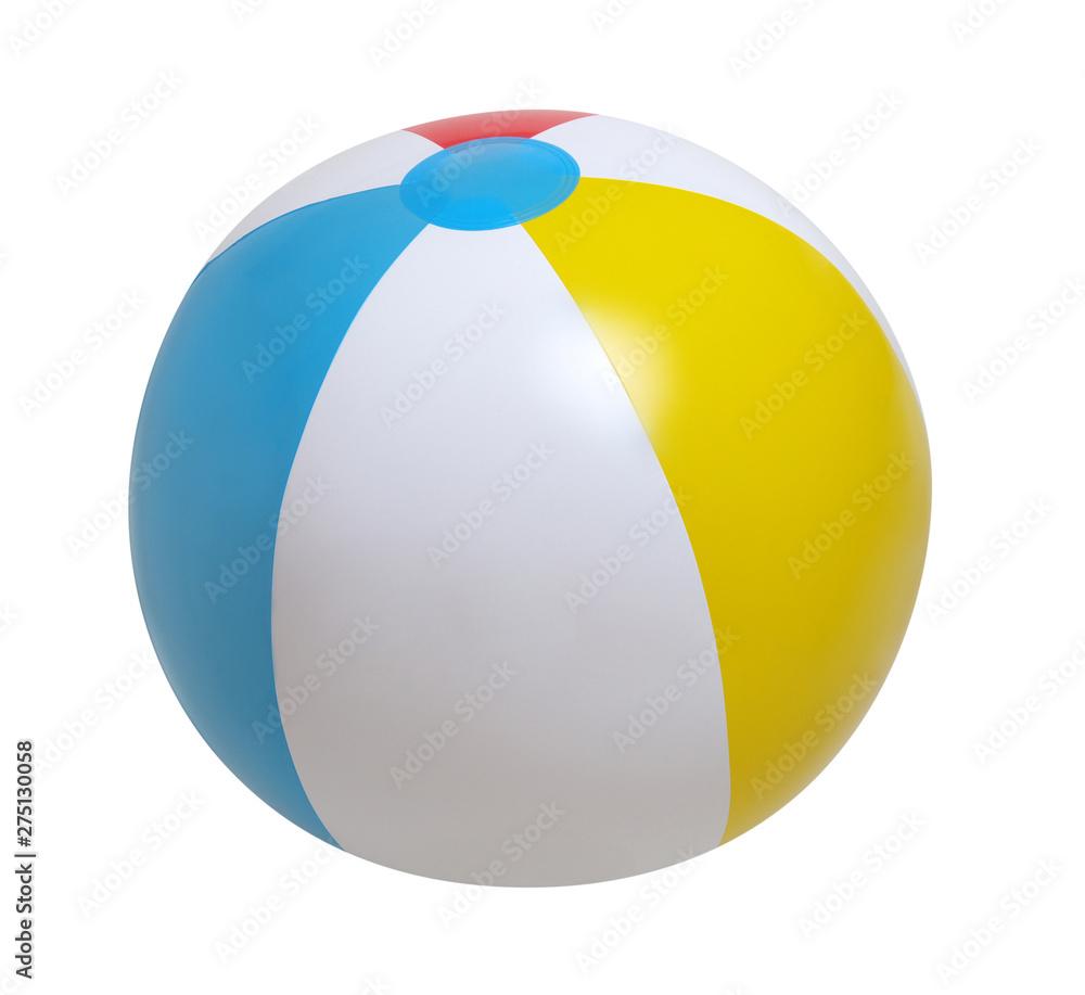 Fototapety, obrazy: Beach ball on white