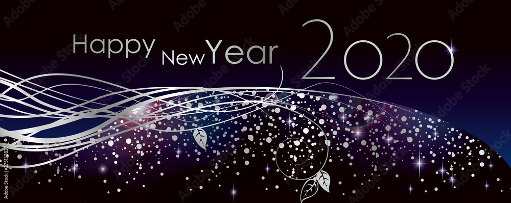 Fototapeta happy new year 2020