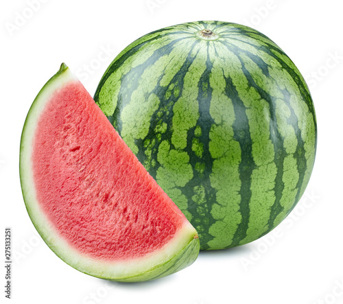 Foto auf Leinwand Bekannte Orte in Asien Watermelon isolated Clipping Path