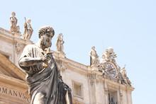 Saint Peter's Basilica In St. Peter's Square, Vatican City. Vatican Museum, Rome, Italy.
