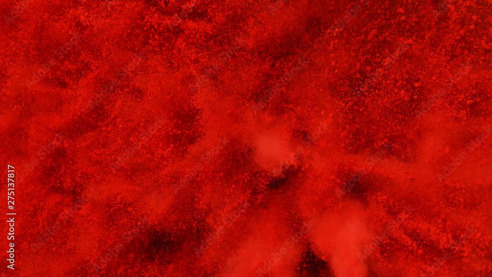 Fototapeta Explosion of red powder.