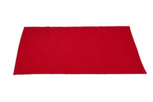 Red Cotton Placemat Isolated O...