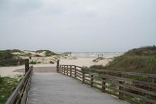 The Beach Of Padre Island National Seashore, Corpus Christi, Texas
