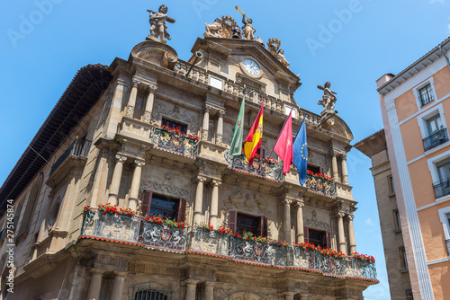 Town hall of Pamplona, Navarre, Spain