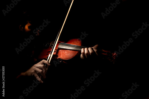 violin on black background - 275153051
