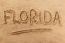 Florida Summer Beach Writing Message