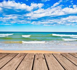 Fototapeta Optyczne powiększenie vacaciones de verano en la playa