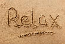 Relax Summer Beach Writing Leisure Message