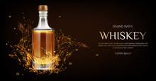 Whiskey Bottle Mockup. Closed ...