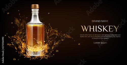 Whiskey bottle mockup Fototapeta