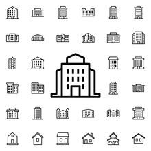 Public Institution Icon. Unive...