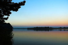 Beautiful Sunset By The Lake, Sunset, Background