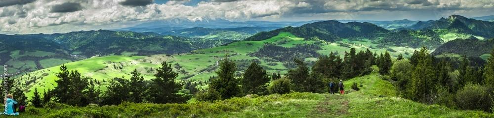 Fototapety, obrazy: Pieniny - widok z Wysokiego Wierchu