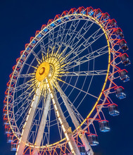 Ferris Wheel  At Night In The ...