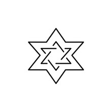 Star Of David, Death Outline Icon. Detailed Set Of Death Illustrations Icons. Can Be Used For Web, Logo, Mobile App, UI, UX