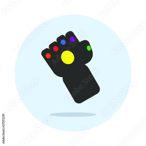 Glove with multi-colored stones Canvas Print