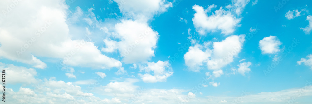 Fototapety, obrazy: Beautiful blue sky cloudsfor background. Panorama of sky.